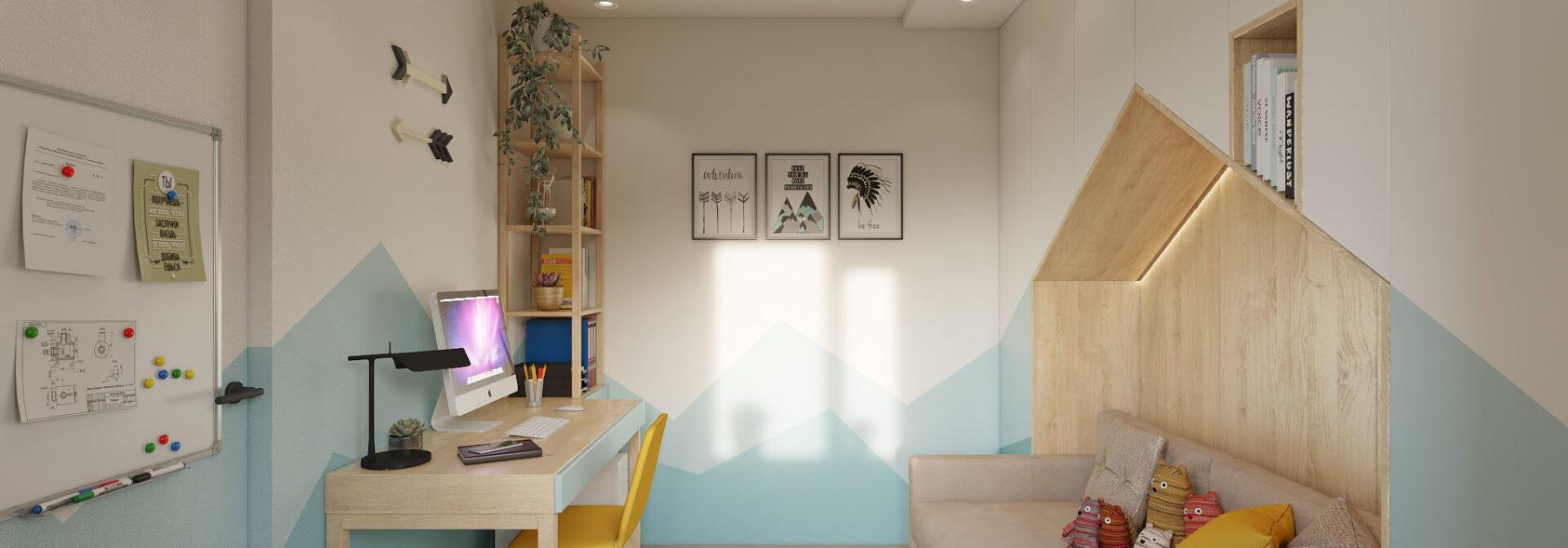 Детская в трехкомнатной квартире