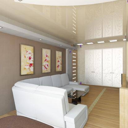 Дизайн гостиной в двухкомнатной квартире