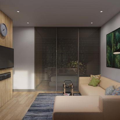Дизайн гостиной декоративные перегородки