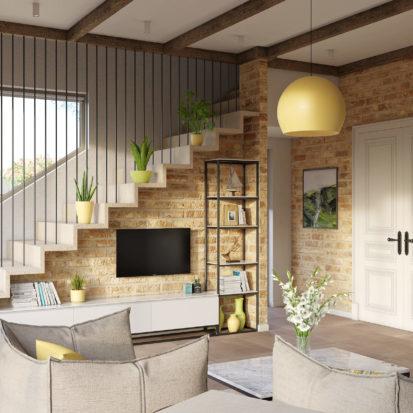 Дизайн гостиной проект дома
