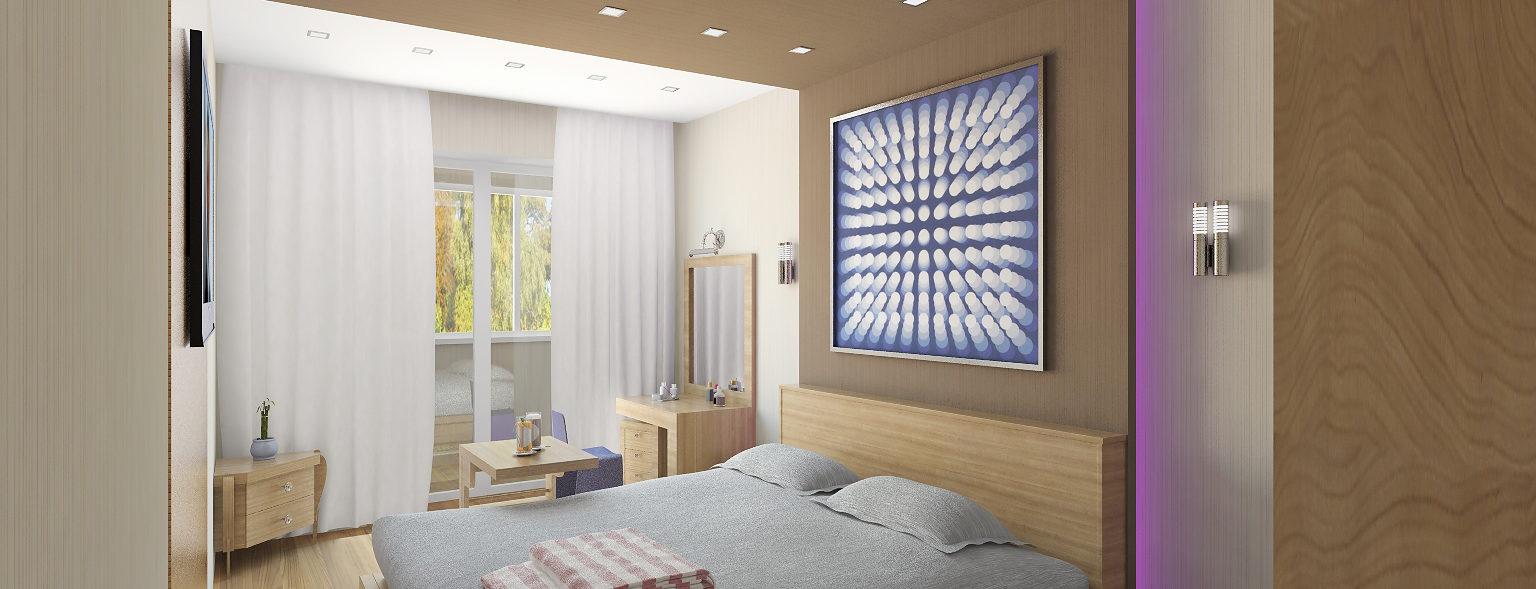 Дизайн двухкомнатной квартиры спальня