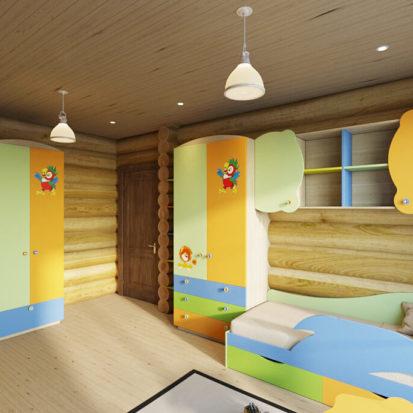 Дизайн детской дом из сруба