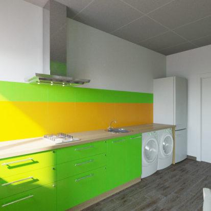 Дизайн интерьера кухни в гостинице