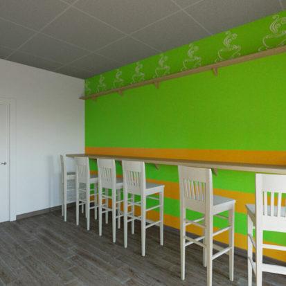 Дизайн кухни в хостеле