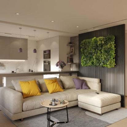 Дизайн проект квартиры гостиная