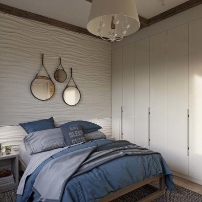 Дизайн спальни в жилом доме