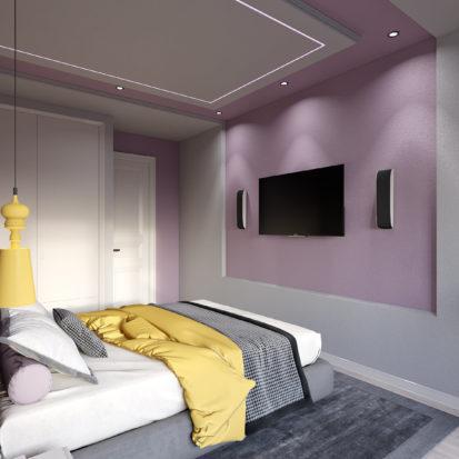 Дизайн спальни двуспальная кровать