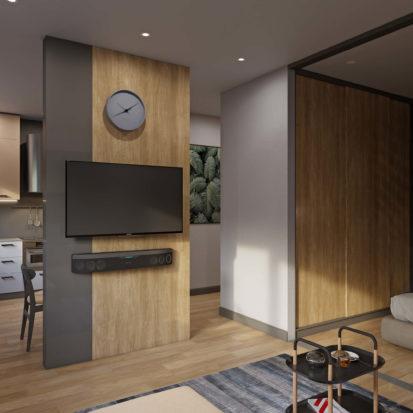 Дизайн спальни однокомнатная квартира