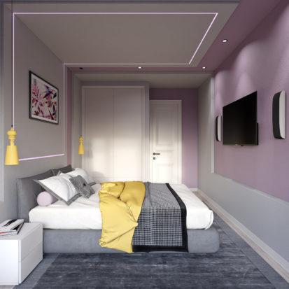 Дизайн спальни шкаф