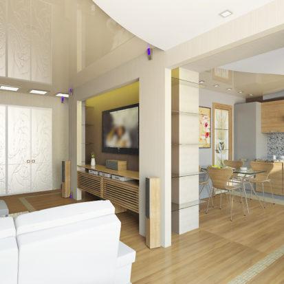 Интерьер гостиной в 2комнатной квартире