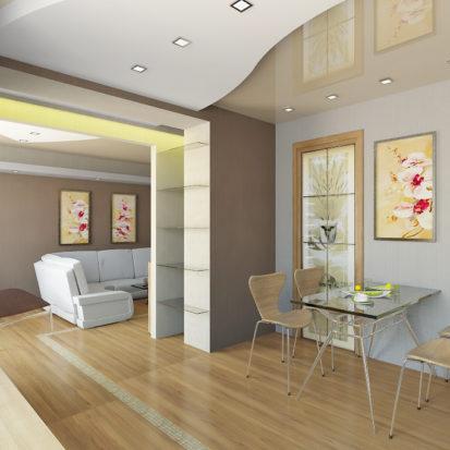 Интерьер двухкомнатной квартиры кухня