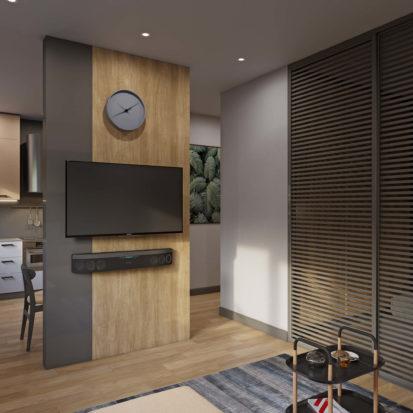Интерьер однокомнатной квартиры гостиная