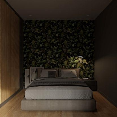 Интерьер спальни в однокомнатной квартире