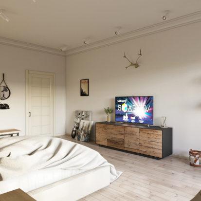Современный дизайн проект спальни