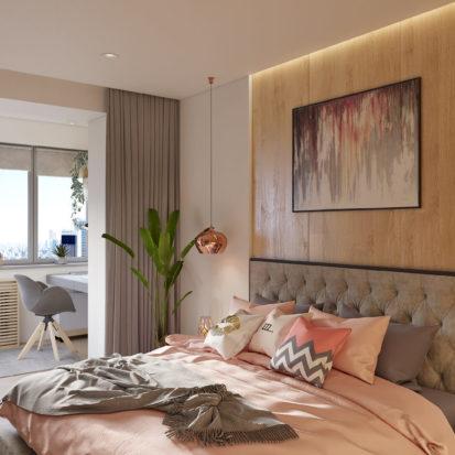 Спальня дизайн проект квартиры