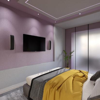 Спальня с телевизором дизайн