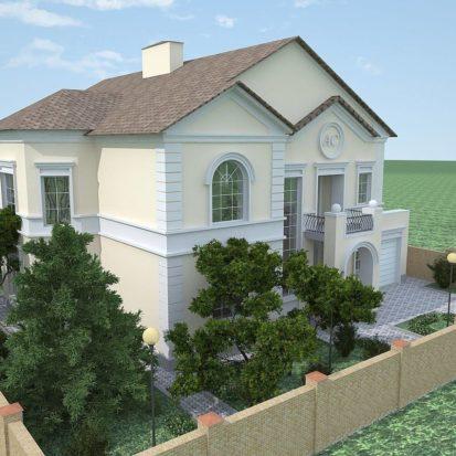 Экстерьер фасады дома