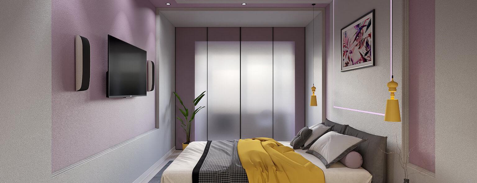 Дизайн интерьера спальни в трехкомнатной квартире
