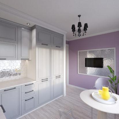 Дизайн трехкомнатной квартиры кухня