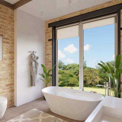 Дизайн дома большая ванная