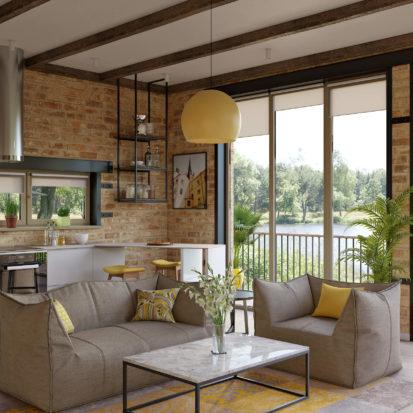 Дизайн дома кухня