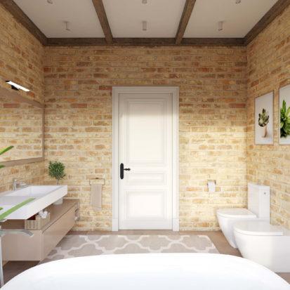 Дизайн дома совмещенный санузел