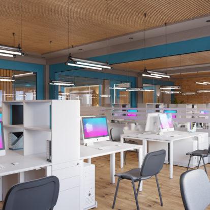 Дизайн офиса Киев - дизайн проект рабочего кабинета