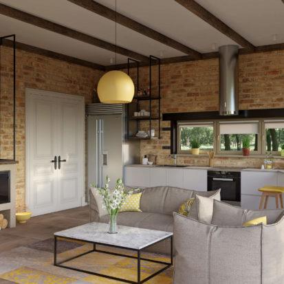 Дизайн кухни интерьер гостиной