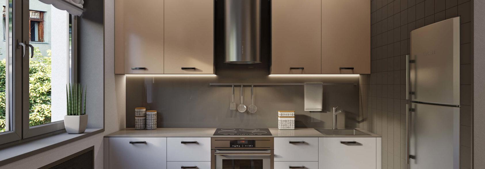 Дизайн кухни студии в однокомнатной квартире