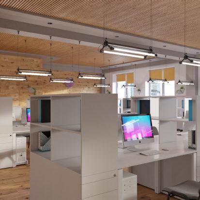 Дизайн офиса Киев - оупенспейс