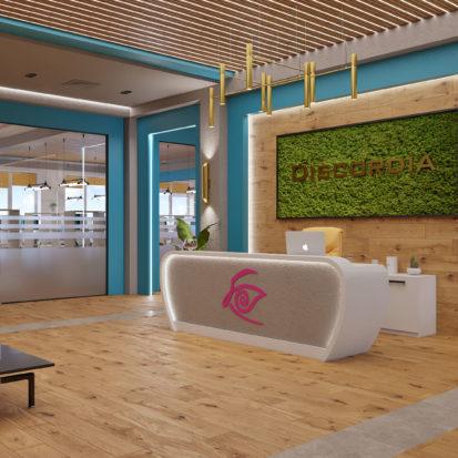 Дизайн офиса Киев ресепшн