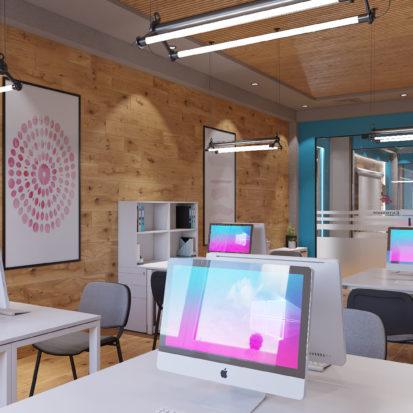Дизайн офиса Киев - дизайн рабочего места в офисе