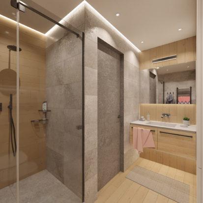 Дизайн проект квартиры душевая