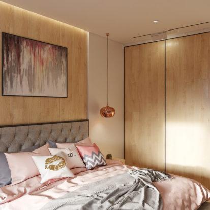 Дизайн проект квартиры интерьер спальни