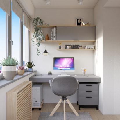 Дизайн проект квартиры кабинет