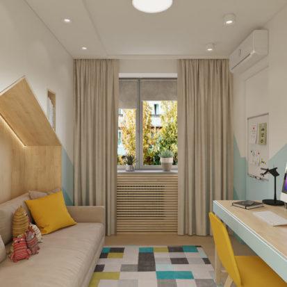 Дизайн проект квартиры комната подростка