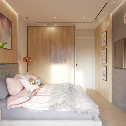 Дизайн проект квартиры кровать