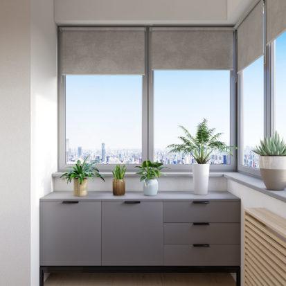 Дизайн проект квартиры лоджия