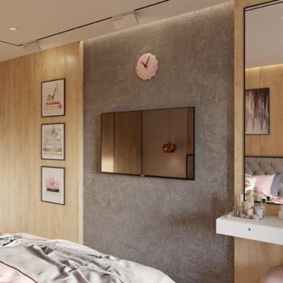 Дизайн проект квартиры мебель в спальню