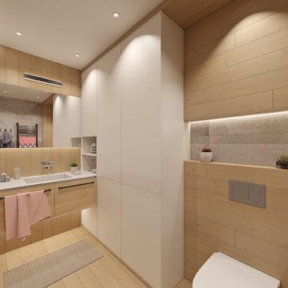 Дизайн проект квартиры унитаз