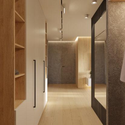 Дизайн проект прихожая мебель