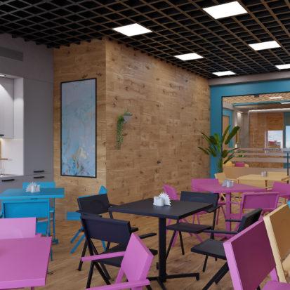 Дизайн офиса Киев - столовая