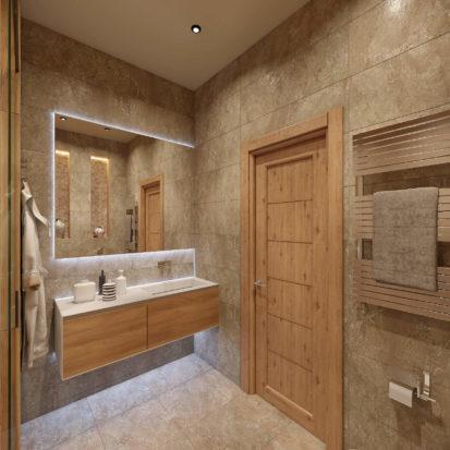 Интерьер квартиры большая ванная
