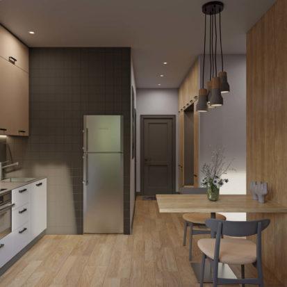 Кухонная мебель в однокомнатной квартире
