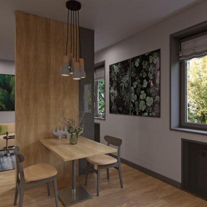 Столовая в однокомнатной квартире