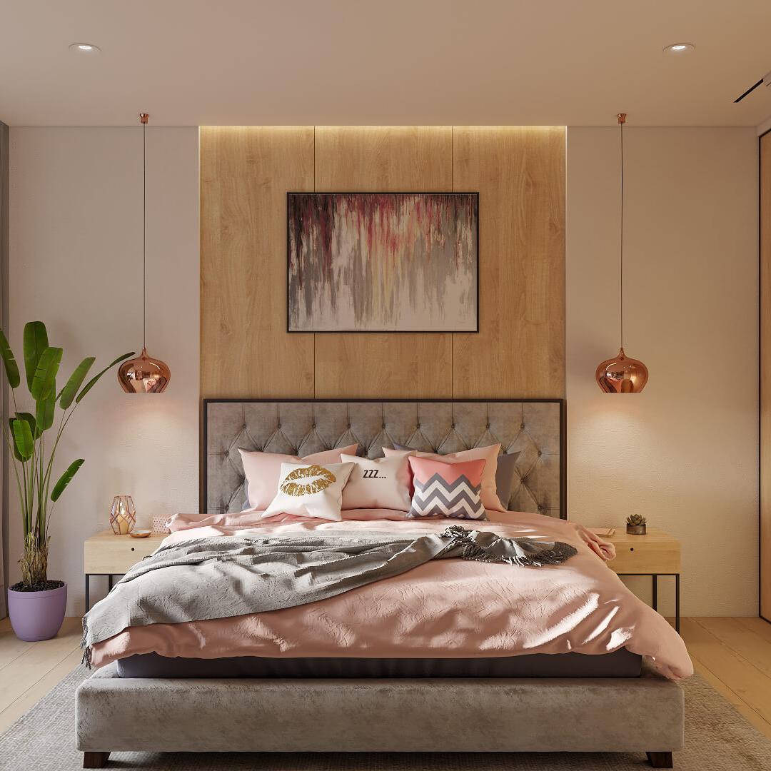дизайн проект спальни интерьер