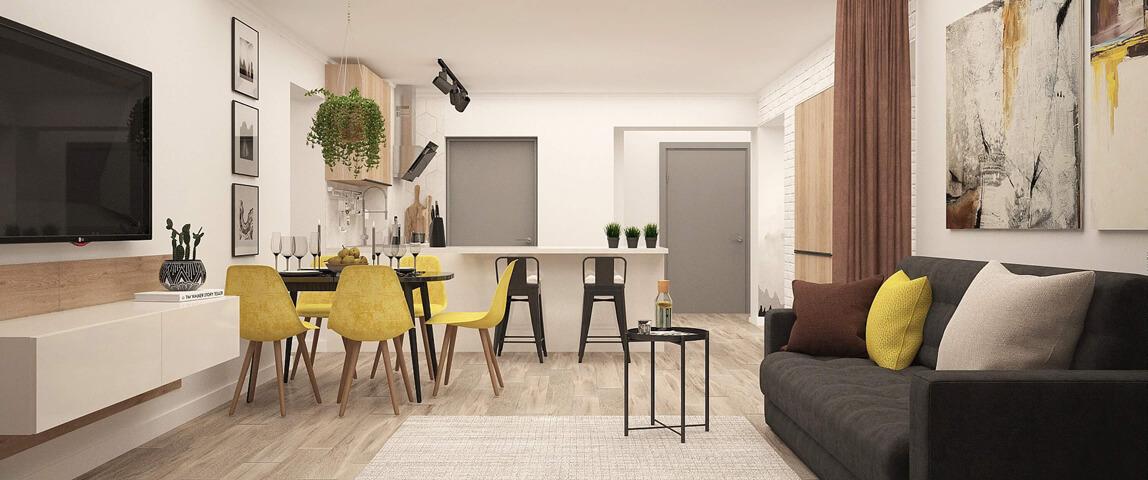 дизайн-проект квартиры, Dofamine