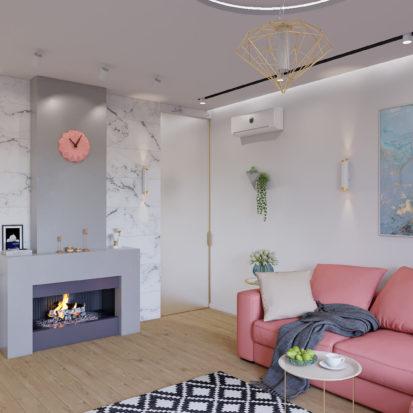 Дизайн интерьера Запорожье - камин