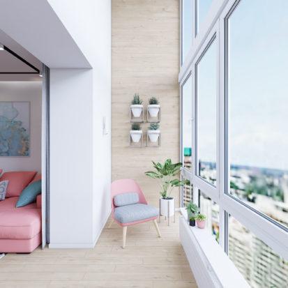 Дизайн интерьера Запорожье - балкон