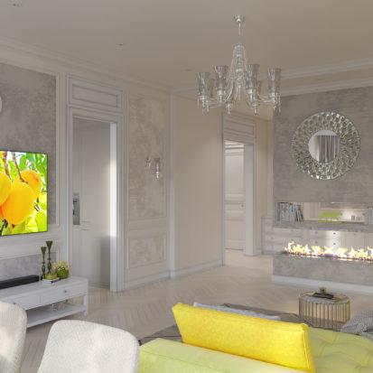 Дизайн интерьера гостиной Запорожье